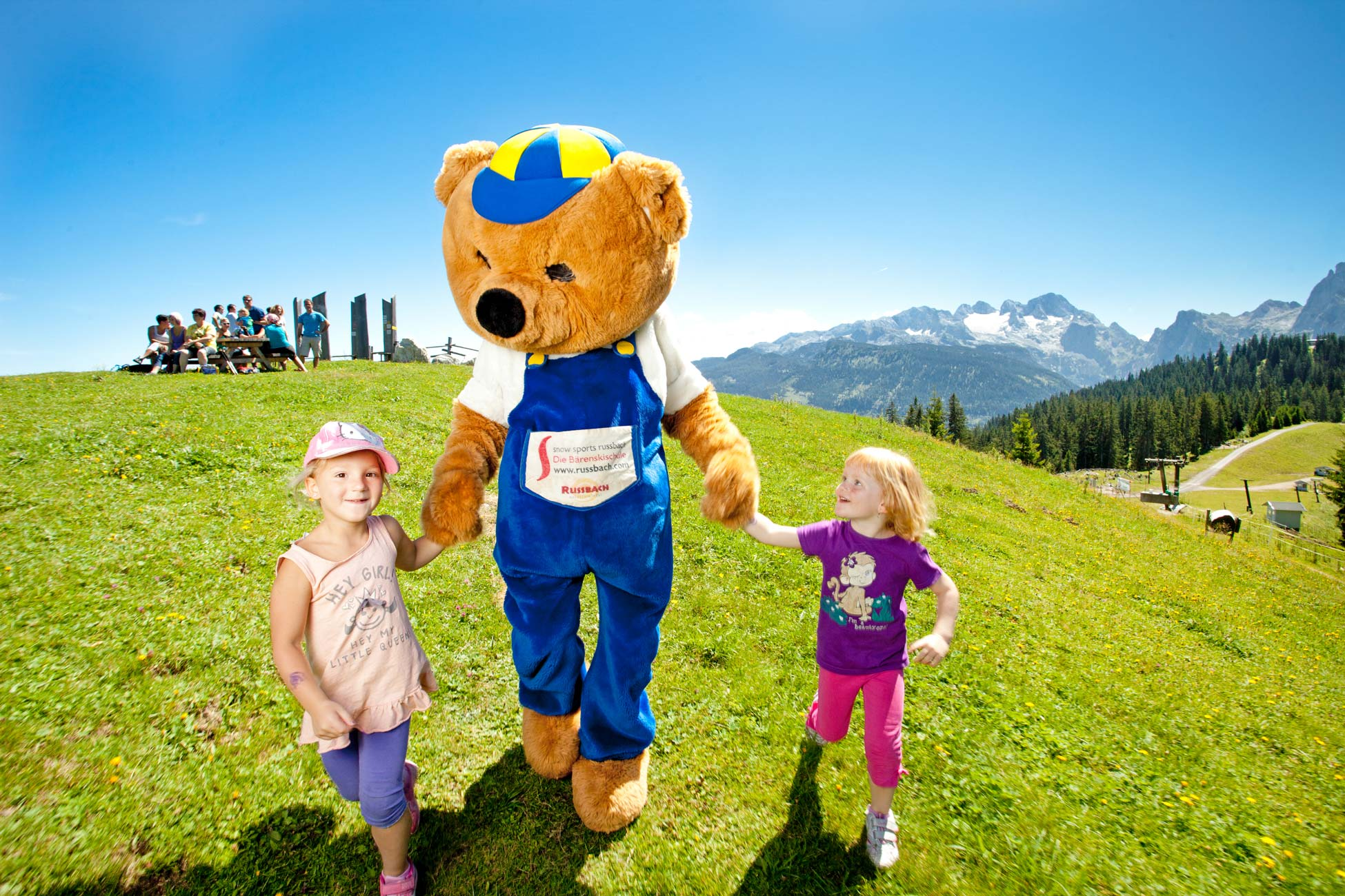 Bruno's world, Bruno bear, mountains, games, fun, children, family, Dachstein West, Dachstein, summer, hiking, nature, Salzburg, Austria