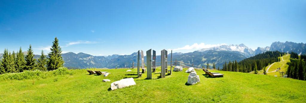 Panorama summer Dachstein West, mountains, hiking, nature, Dachstein, Salzburg, Austria