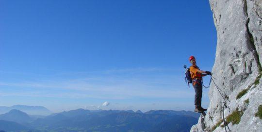 Klettersteig Donnerkogel Annaberg, Wandern, Bergsteigen Dachstein West, Klettern, Salzburg, Österreich, Berge, Natur, Sommer, Urlaub, Bergsport